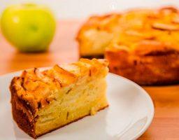 Torta de manzana casera