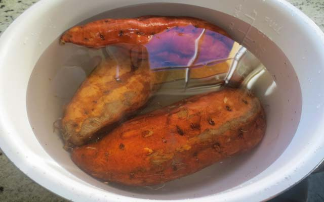 Boniatos al horno