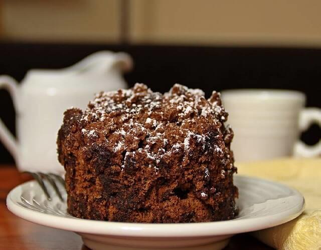 brownie en el microondas