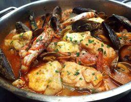 Caldereta de pescado y marisco
