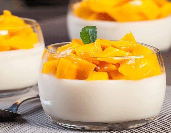 Panacota de mango