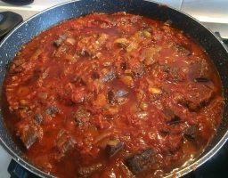 Sangre con tomate tradicional de cádiz