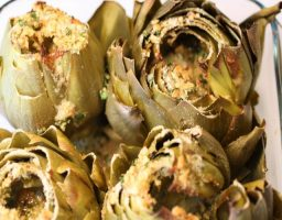 Alcachofas al Roquefort