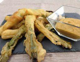 Calçots en tempura o arrebossats
