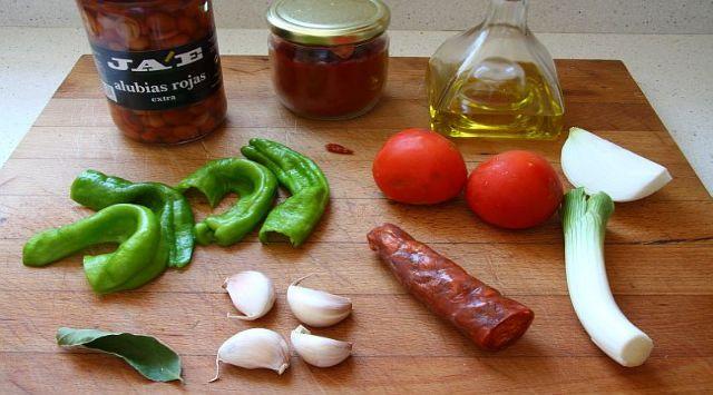 Alubias con Chorizo