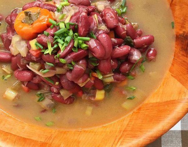 Alubias rojas con verduras